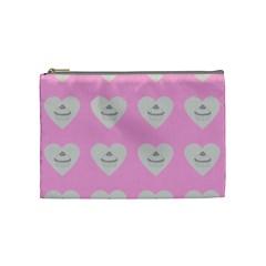 Cupcake Pink Grey Cosmetic Bag (medium)