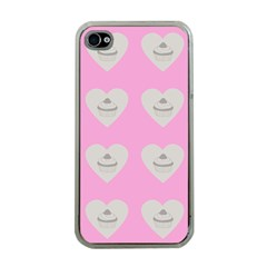 Cupcake Pink Grey Apple Iphone 4 Case (clear)
