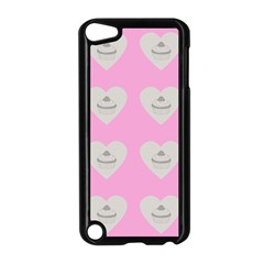 Cupcake Pink Grey Apple Ipod Touch 5 Case (black)