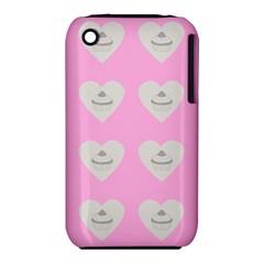 Cupcake Pink Grey Iphone 3s/3gs