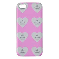 Cupcake Pink Grey Apple Iphone 5 Premium Hardshell Case