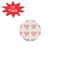 Cupcake White Pink 1  Mini Buttons (10 Pack)