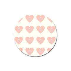 Cupcake White Pink Magnet 3  (round)