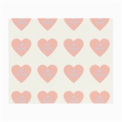 Cupcake White Pink Small Glasses Cloth (2 Side)