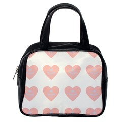 Cupcake White Pink Classic Handbags (one Side)