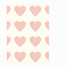 Cupcake White Pink Small Garden Flag (two Sides)
