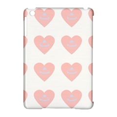 Cupcake White Pink Apple Ipad Mini Hardshell Case (compatible With Smart Cover)