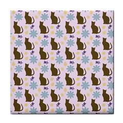 Outside Brown Cats Tile Coasters