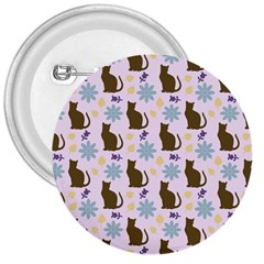 Outside Brown Cats 3  Buttons