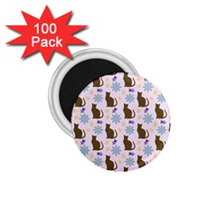 Outside Brown Cats 1 75  Magnets (100 Pack)