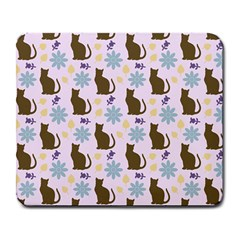 Outside Brown Cats Large Mousepads