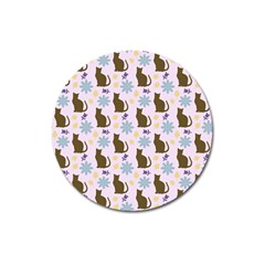 Outside Brown Cats Magnet 3  (round)