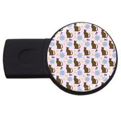 Outside Brown Cats Usb Flash Drive Round (2 Gb)