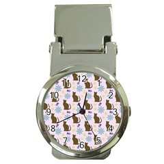 Outside Brown Cats Money Clip Watches