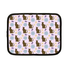 Outside Brown Cats Netbook Case (small)