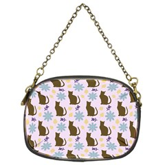 Outside Brown Cats Chain Purses (one Side)