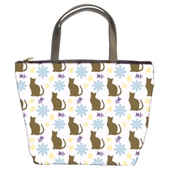 Outside Brown Cats Bucket Bags