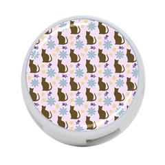 Outside Brown Cats 4 Port Usb Hub (two Sides)