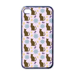 Outside Brown Cats Apple Iphone 4 Case (black)