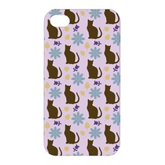 Outside Brown Cats Apple Iphone 4/4s Hardshell Case