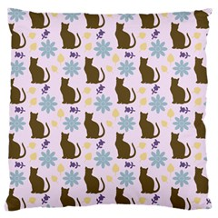Outside Brown Cats Large Cushion Case (one Side)