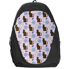 Outside Brown Cats Backpack Bag