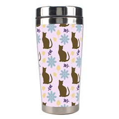 Outside Brown Cats Stainless Steel Travel Tumblers