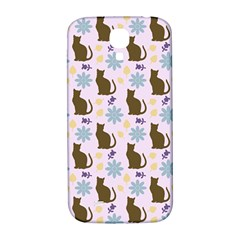 Outside Brown Cats Samsung Galaxy S4 I9500/i9505  Hardshell Back Case