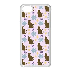 Outside Brown Cats Apple Iphone 8 Seamless Case (white)