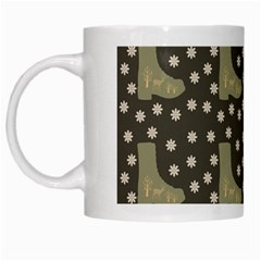 Charcoal Boots White Mugs