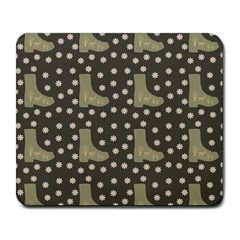 Charcoal Boots Large Mousepads