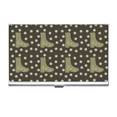 Charcoal Boots Business Card Holders