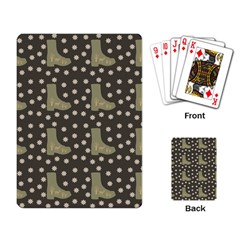 Charcoal Boots Playing Card