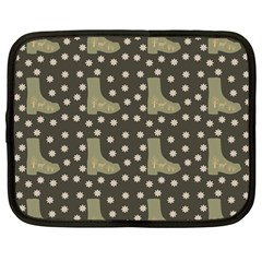 Charcoal Boots Netbook Case (large)