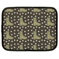 Charcoal Boots Netbook Case (xxl)