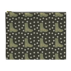 Charcoal Boots Cosmetic Bag (xl)