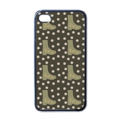Charcoal Boots Apple Iphone 4 Case (black)