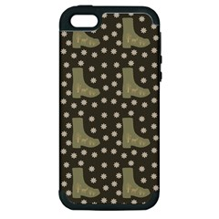 Charcoal Boots Apple Iphone 5 Hardshell Case (pc+silicone)