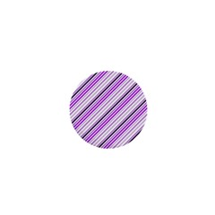 Purple Diagonal Lines 1  Mini Buttons