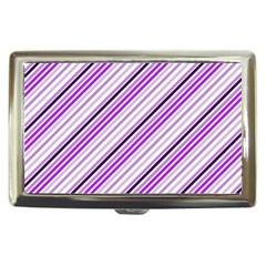 Purple Diagonal Lines Cigarette Money Cases