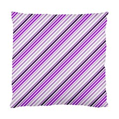 Purple Diagonal Lines Standard Cushion Case (two Sides)