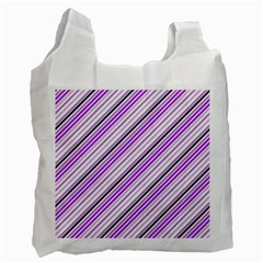 Purple Diagonal Lines Recycle Bag (two Side)