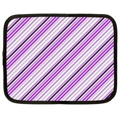 Purple Diagonal Lines Netbook Case (xl)