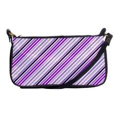 Purple Diagonal Lines Shoulder Clutch Bags