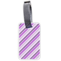Purple Diagonal Lines Luggage Tags (one Side)