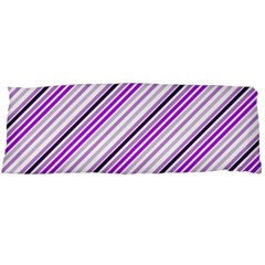 Purple Diagonal Lines Body Pillow Case Dakimakura (two Sides)