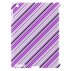 Purple Diagonal Lines Apple Ipad 3/4 Hardshell Case (compatible With Smart Cover)