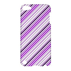 Purple Diagonal Lines Apple Ipod Touch 5 Hardshell Case