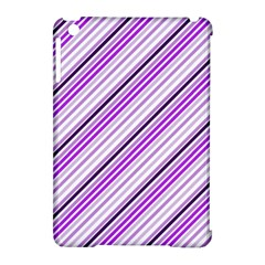 Purple Diagonal Lines Apple Ipad Mini Hardshell Case (compatible With Smart Cover)
