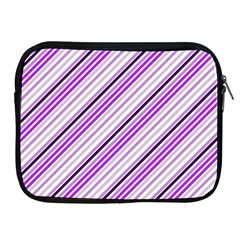 Purple Diagonal Lines Apple Ipad 2/3/4 Zipper Cases